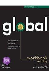 Global: Intermediate Work Book + CD with Key