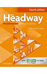 New Headway: Pre-Intermediate A2 - B1: Workbook + iChecker with Key