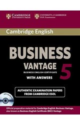 Cambridge English Business 5 Vantage Self-study Pack